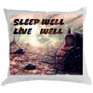 """Подушка """"Sleep well live well"""""""