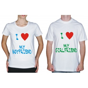"Футболка парная ""I love my boyfriend"""