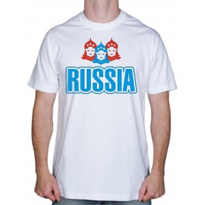 "Футболка ""Русские выбирают спорт"""