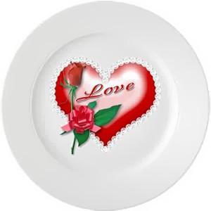 "Тарелка ""Любовь"""