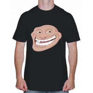 "Крутая футболка ""Trollface фото"""