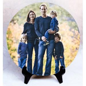 "Фото на камне ""Самая счатливая семья"""
