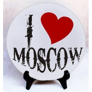 """Фото на камне """"I love Moscow"""""""