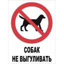 "Табличка Выгул Животных Запрещен ""ЖЗ-01"""