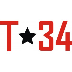 "Наклейка ""Т34"""