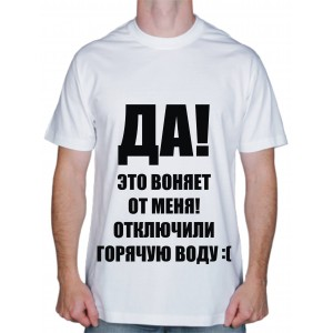"Футболки с надписями ""Воняет От Меня"""
