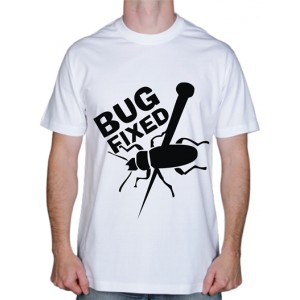 "Крутая футболка ""Bug Fixed"""
